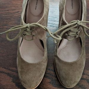 Land's End Tan Suede Oxford Mary Janes